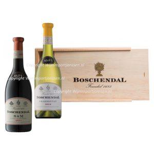 Boschendal Geschenkkist 2 flessen 1x rood & 1x wit