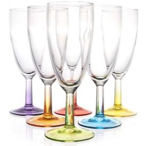 Luminarc Crazy Colors Champagne Flute 19cl ( Set van 6 )