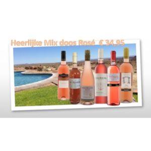 Mixdoos met verschillende Rosé wijnen (6 stuks)