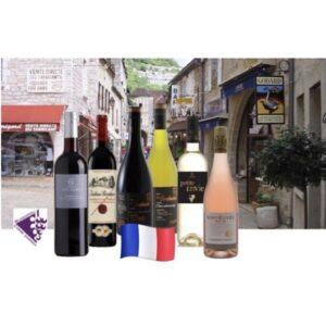 Frans wijnpakket Doos met 6 heerlijke Franse wijnen