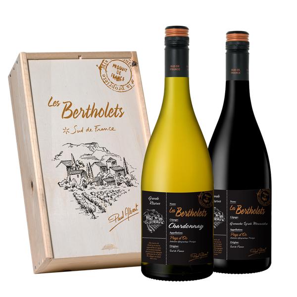 Les Bertholets Grande Réserve Chardonnay Geschenkverpakking