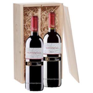 Bardolino & Valpolicella rode wijn in 2 vaks wijnkistje